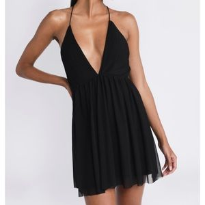 TOBI Deep V Dress NWT